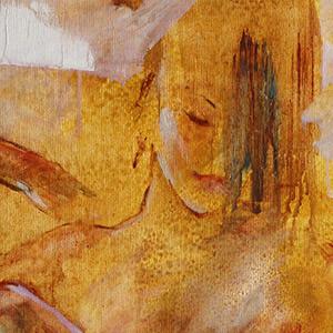 vignette portrait peinture